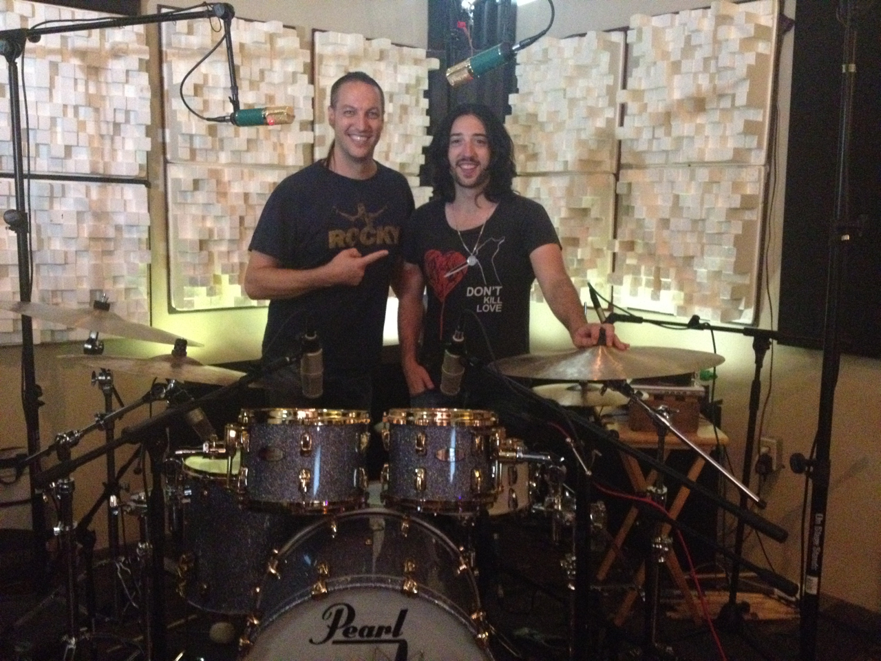 Mike Avenaim Tracking Drums