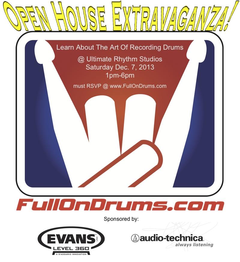 FullOnDrums Open House & Seminar!!!