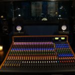 Trident 88 recording console all lit up!