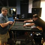 Justin & Joe from PMI Audio installing the new Trident 88 console