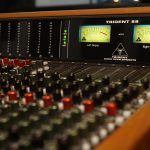 VU meters on the Trident 88 recording console