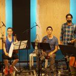 Sandesh Nagaraj and the string quartet featuring Mary Keating & Jordan Slocum on Violin, Brandon Encinas on Viola and Billy Tobenkin on Cello at Ultimate Studios, Inc