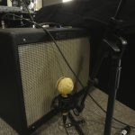 Ultimate Studios, Inc - Marty O'Reilly and the Old Soul Orchestra Fathead II on guitar amp