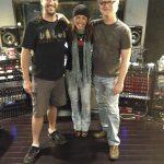 Engineer Charlie Waymire with Tita Hutchison and Tim Pedersen