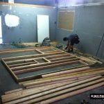 Building Ultimate Studios, Inc - Mike Bondra assembling a wall