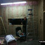 Building Ultimate Studios, Inc - Control Room with insulation installed and waiting for drywall