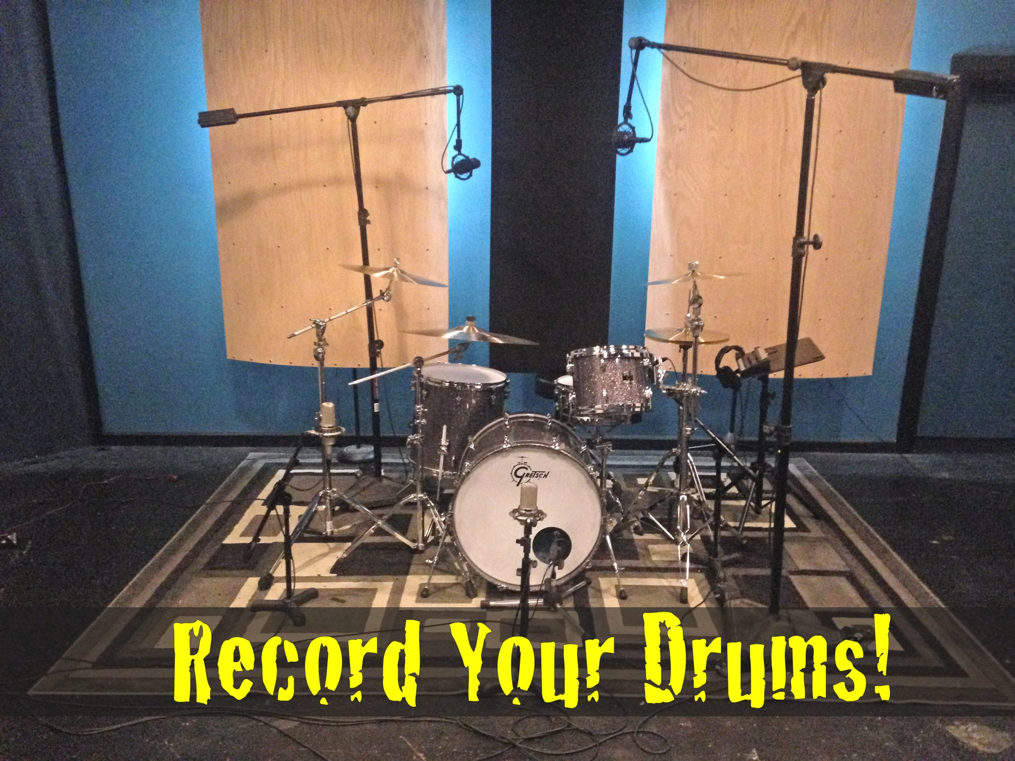 Record Your Drums Tracks Here!