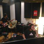 Leo Bomeny of Duranbah at Ultimate Studios, Inc. recording guitars with engineer Charlie Waymire