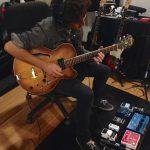 Duranbah recording guitars at Ultimate Studios, Inc