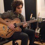 Leo Bomeny of Duranbah at Ultimate Studios, Inc recording guitars