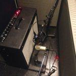 Guitar amp setup for Duranbah at Ultimate Studios, Inc - Fender miced with Heil PR30 and MXL 144 ribbon mic