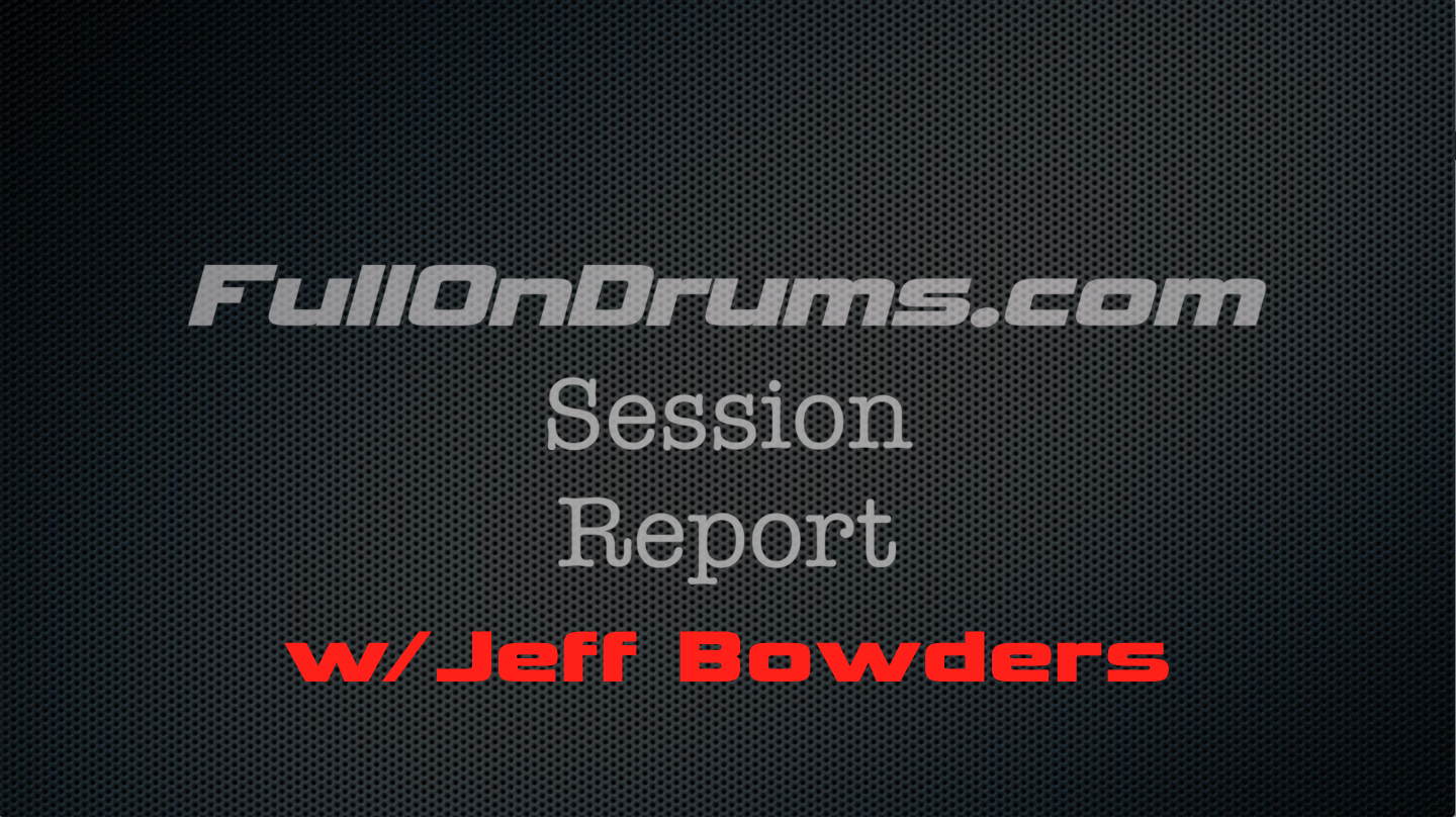 Session Report - In the studio with Charlie Waymire and Jeff Bowders