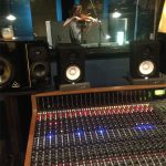 Jesse Olema playing Fiddle for Kalynne Michelle at Ultimate Studios, Inc