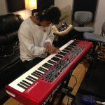 Paul Myint playing keyboards for Kalynne Michelle at Ultimate Studios, Inc