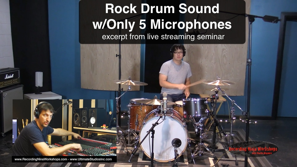 Rock Drums Sounds with 5 Mics!