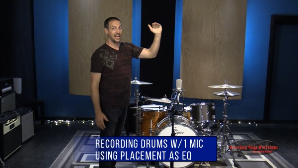 recording drums with 1 microphone