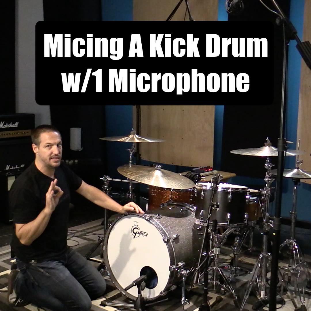 recording kick drum with 1 microphone