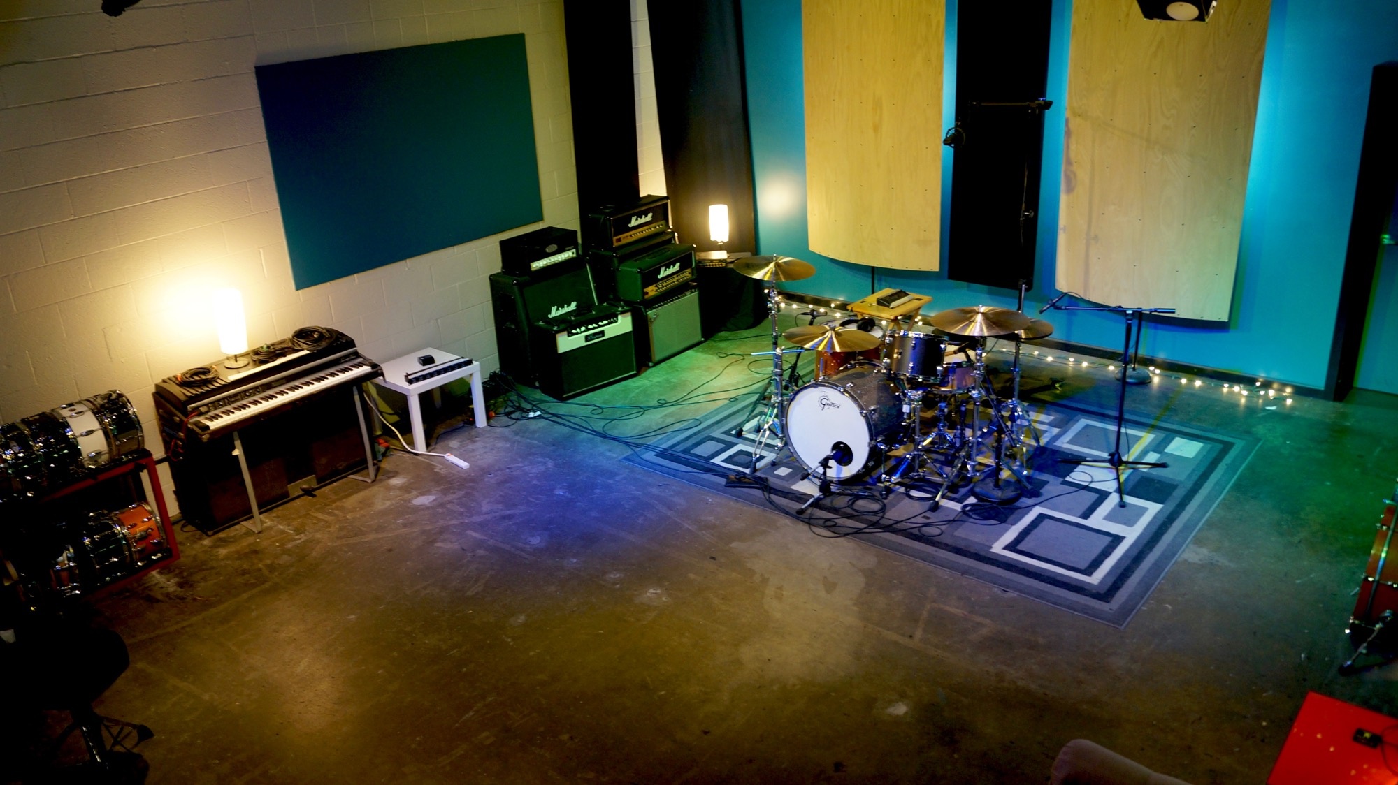 The live drum room at Ultimate Studios, Inc