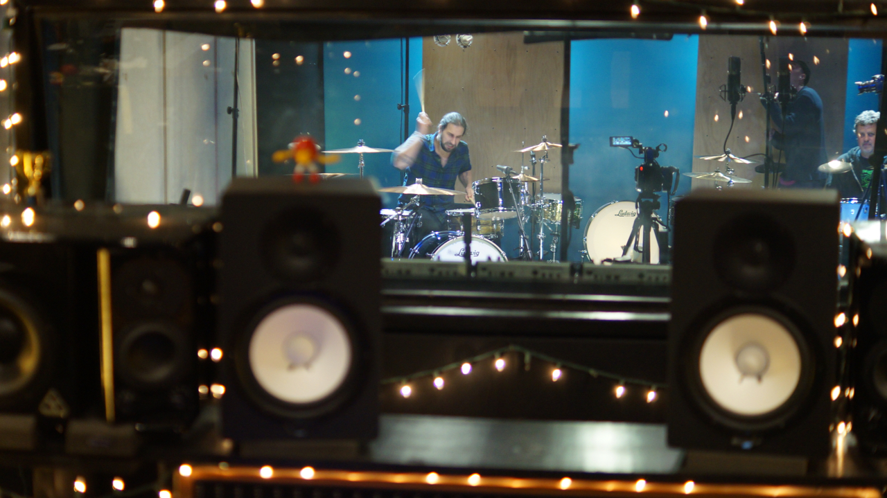 Brian Tichy recording drums at ultimate studios inc Los Angeles