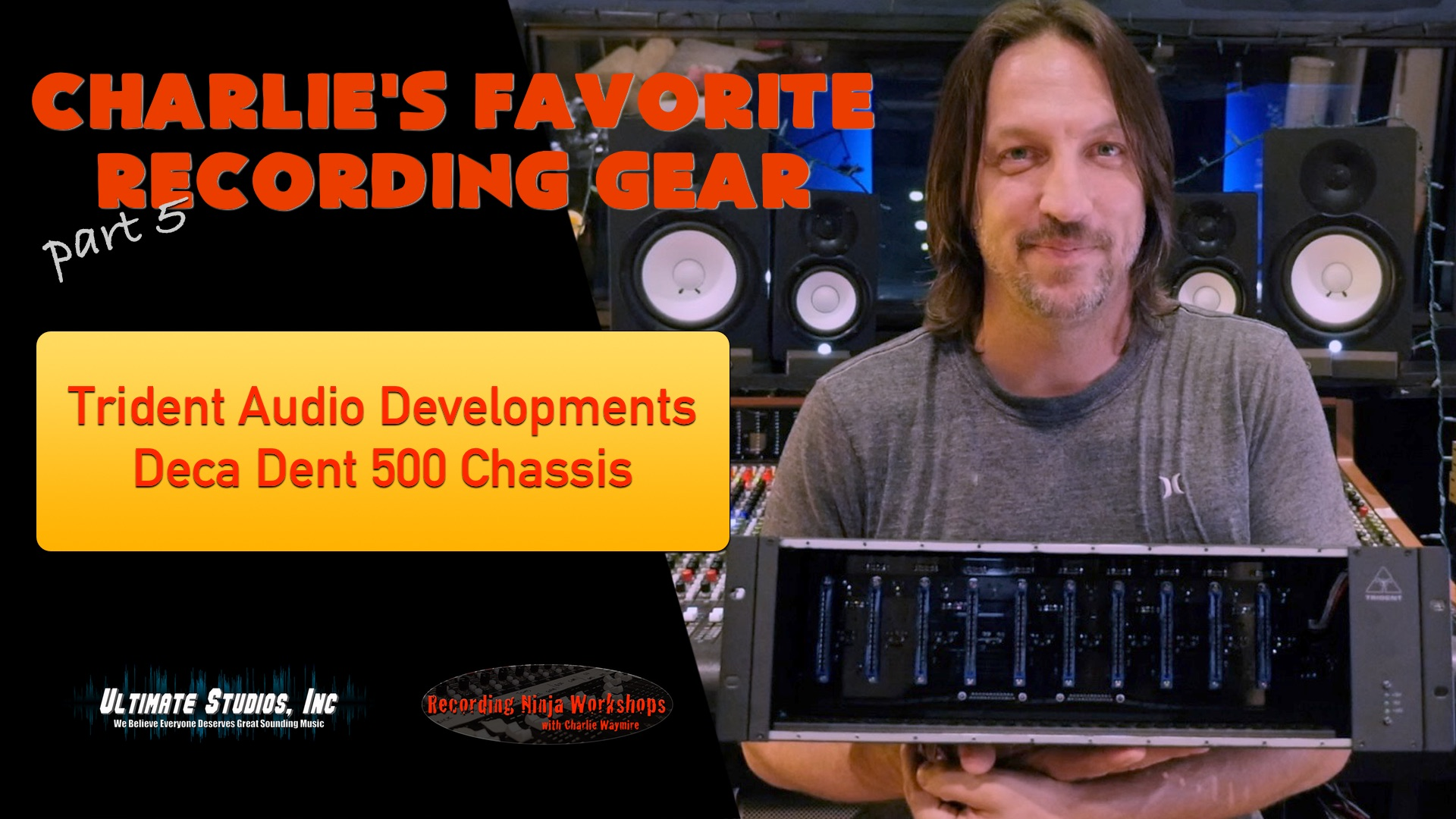 Recording Studio Tools! Trident Deca Dent 500 Rack