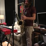 recording saxaphone at ultimate studios, inc with paracosmic