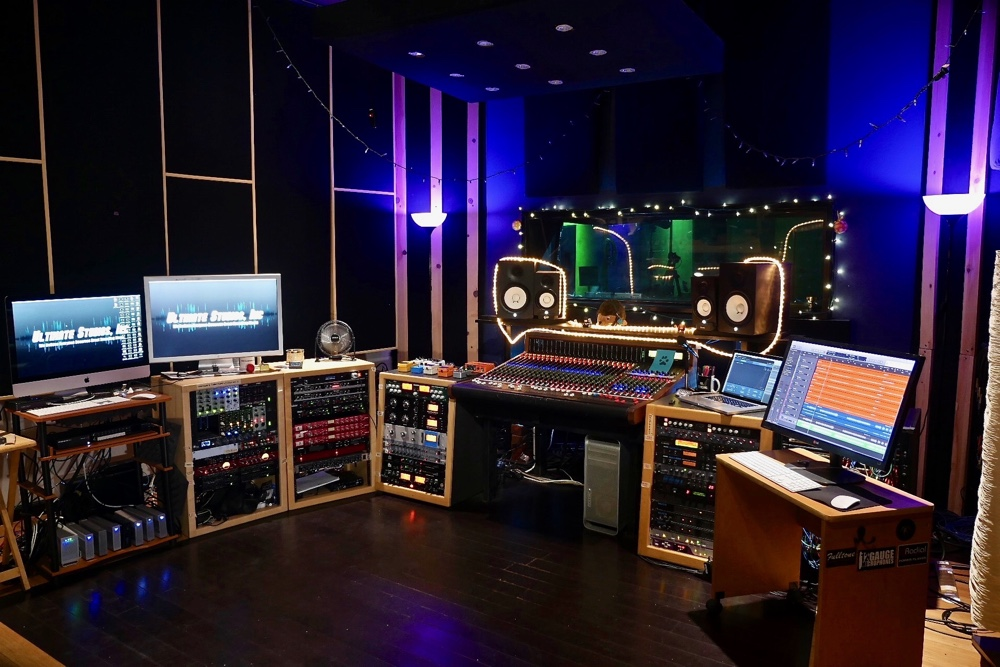 Control Room at Ultimate Studios, Inc