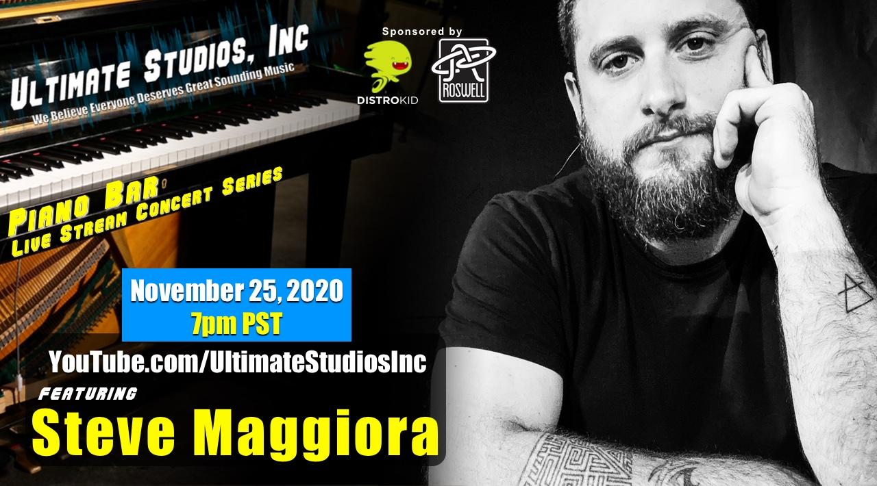 Piano Bar Live Stream Concert w/Steve Maggiora